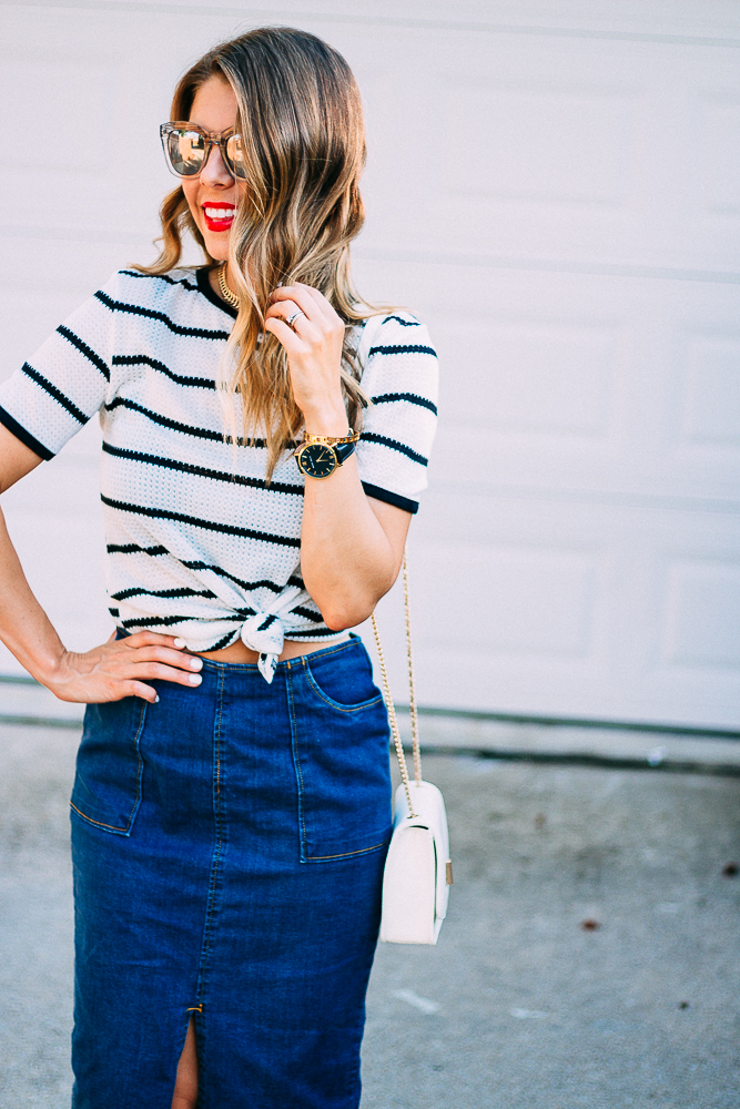 4th of July Striped Tee