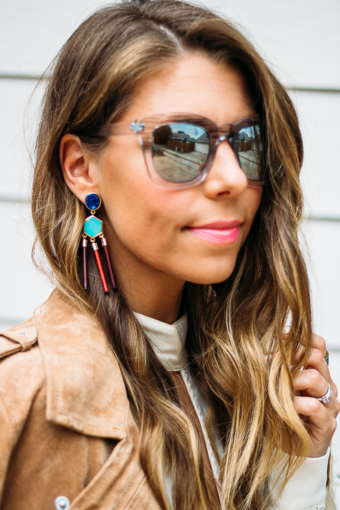 Turquoise statement earrings baublebar