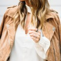 Keyhole Dress suede jacket