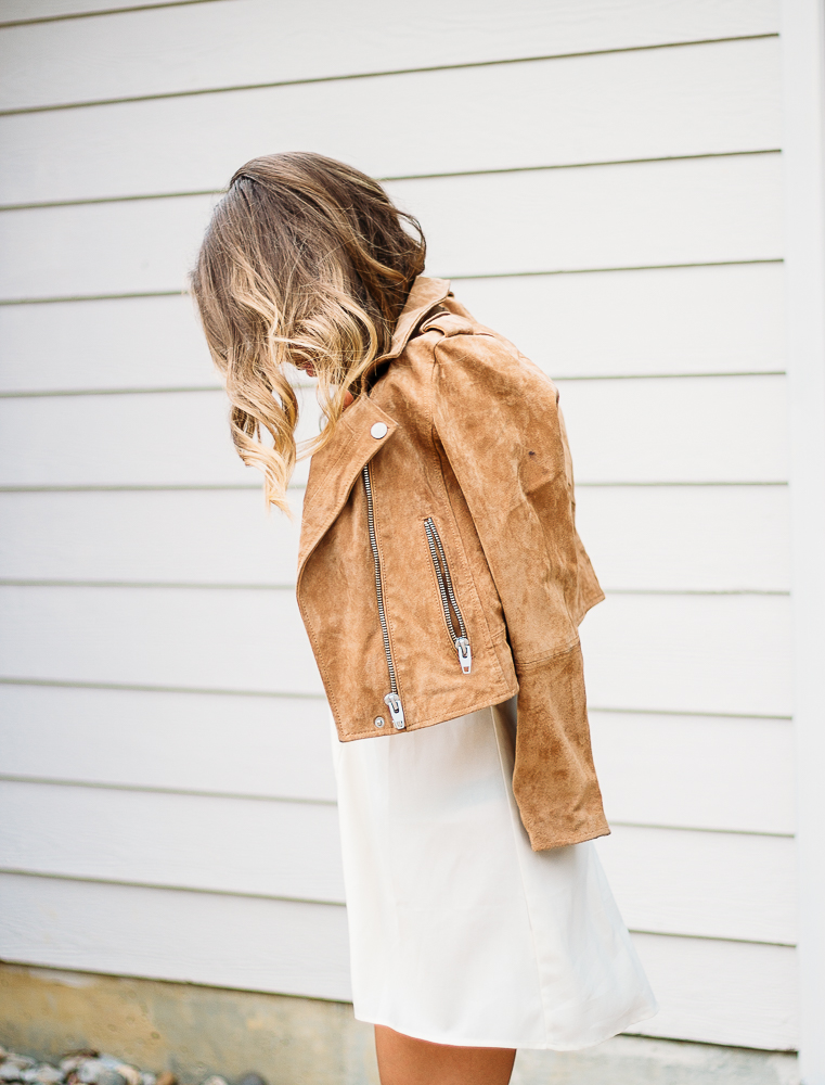 Cream dress suede jacket