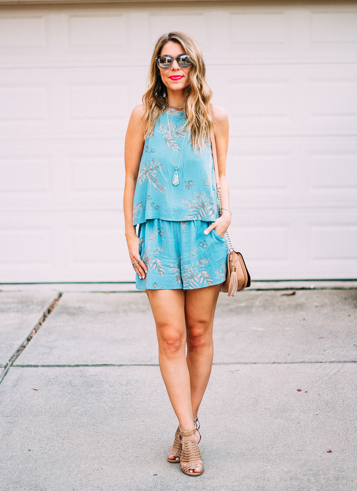 Light Blue Popover Romper