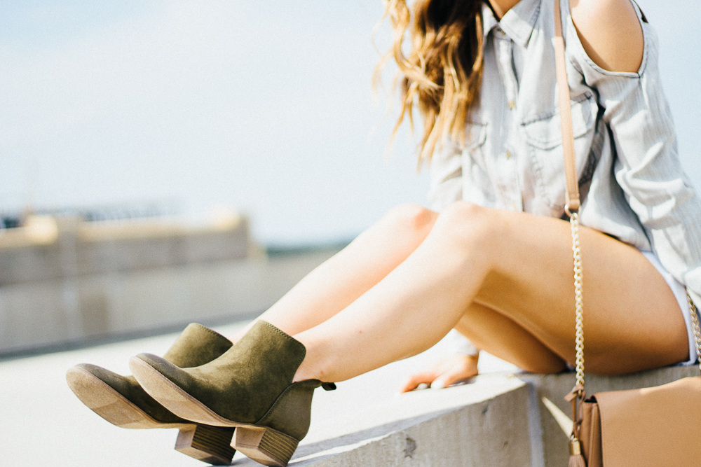 faux suede olive ankle boots