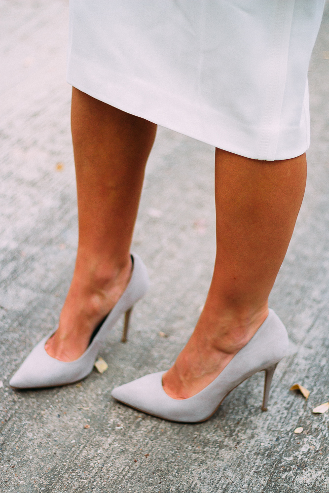 neutral suede pumps