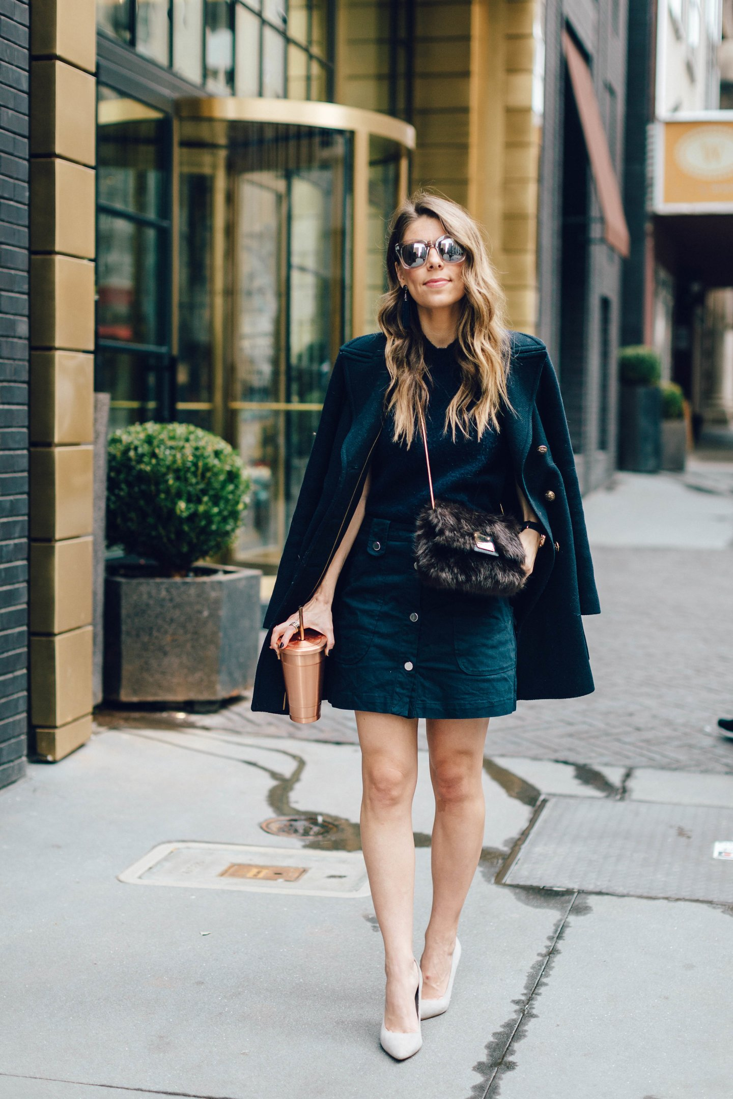 monochromatic navy outfit navy obsessed