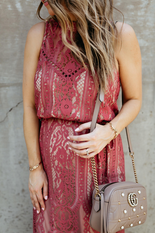 classic lace midi dress fashion blogger