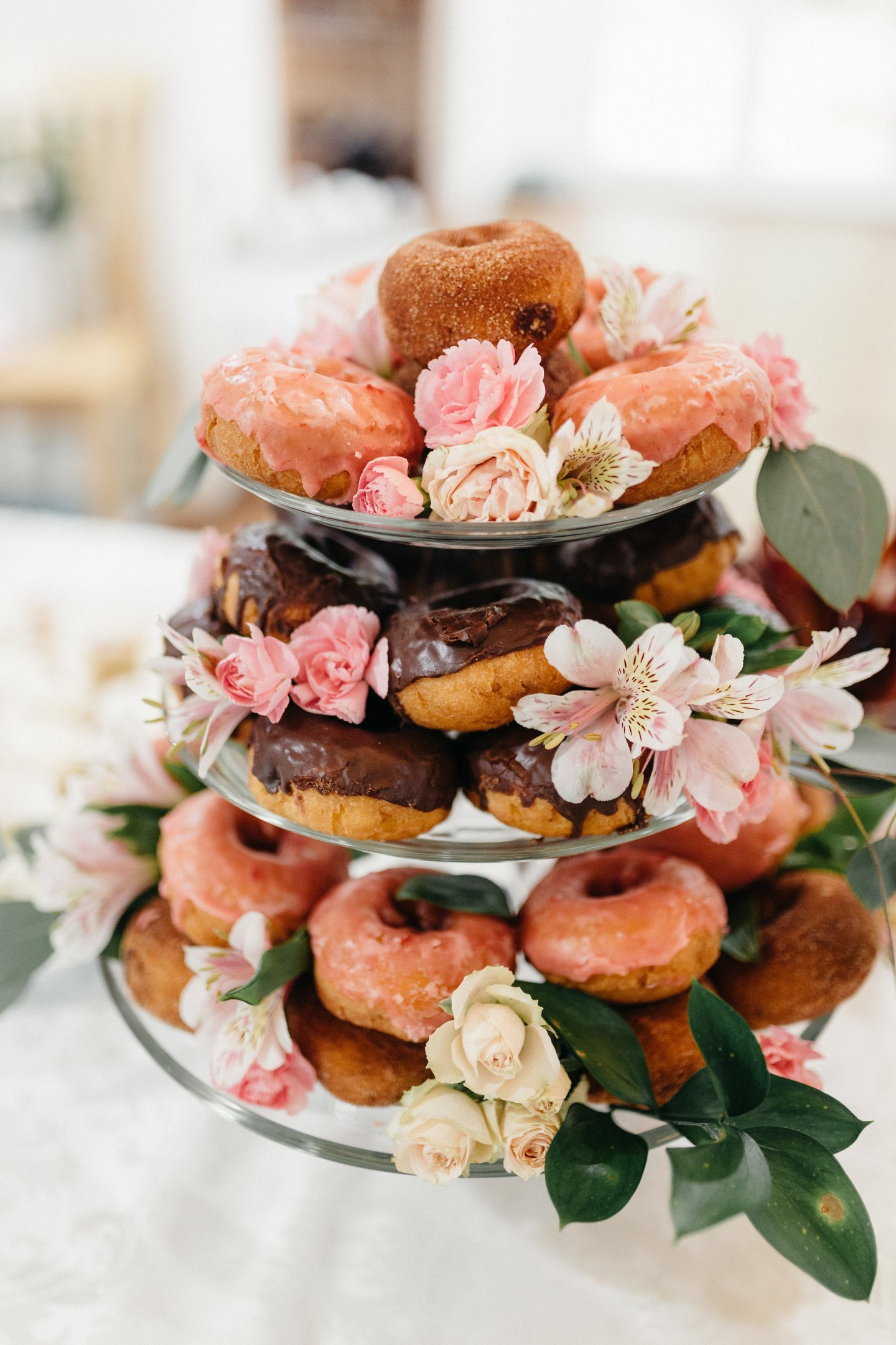 donut tower for baby shower