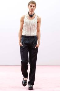 Johannes Linder walks for J.W. Anderson during London Collections: Men
