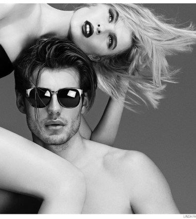 68bab68afda Celia Azoulay styles… Matt Trethe Fronts Linda Farrow Fall Winter 2014  Eyewear Campaign