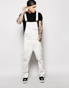 ASOS Men's White Denim Overalls