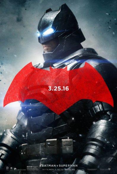 Batman v Superman: Dawn of Justice poster artwork featuring Ben Affleck as Batman