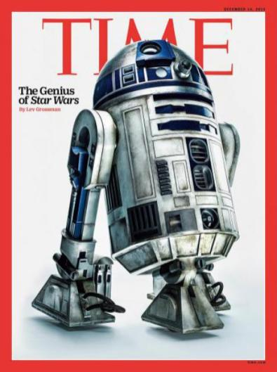 R2D2 covers TIME magazine.