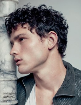 Simon Nessman Models Casual Spring Fashions for Numéro Homme