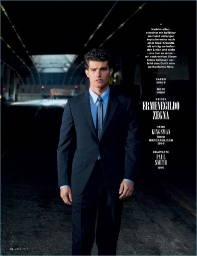 Back in Business: Paolo Anchisi Dons Designer Suits for GQ Germany