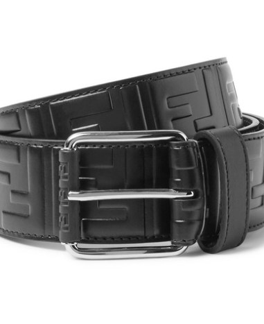 7bee1ed89b Fendi – 4.5cm Brown Logo-Embossed Leather Belt – Brown | The Fashionisto