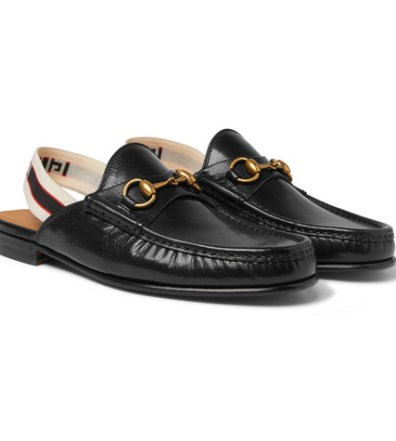62260880d98 Gucci – Princetown Shearling-Lined Herringbone Wool Backless Loafers ...
