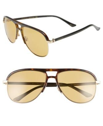 93ce9a146f Men s Gucci 80S Monocolor 60Mm Polarized Aviator Sunglasses –