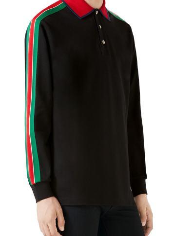45b901cde Men s Gucci Banding Collar Pique Polo