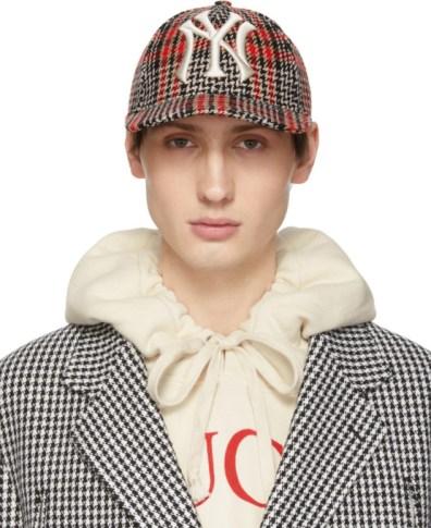c3cdc50f Gucci Brown NY Yankees Edition GG Supreme Patch Cap | The Fashionisto