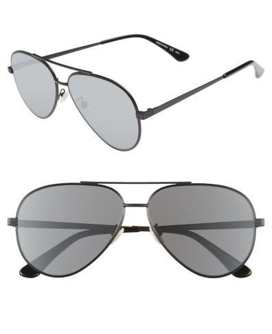 267f9a36ac06d Men s Saint Laurent Sl 211 60Mm Aviator Sunglasses – Gold  Dark ...