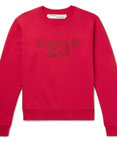 699d7f5d49ea Off-White – Oversized Printed Cotton-Jersey T-Shirt – Men – Red ...