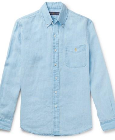 872ec2334a8f Polo Ralph Lauren – Button-Down Collar Linen Shirt – Men – Pink ...