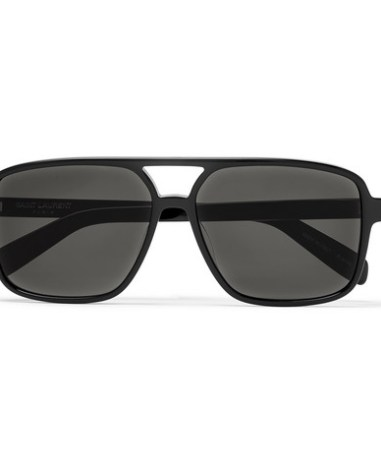 6ce3648761 SAINT LAURENT - Aviator-Style Acetate Sunglasses - Men - Black