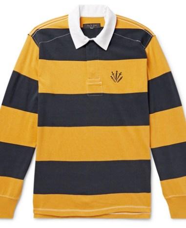 8242da39e9 rag & bone - Logo-Embroidered Twill-Trimmed Striped Cotton-Jersey Polo Shirt