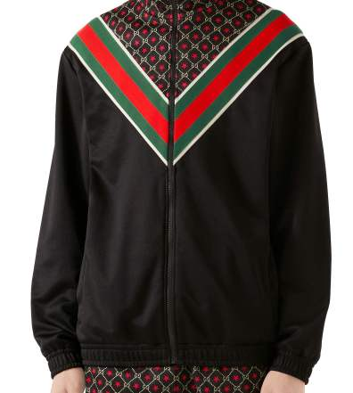 56ffb420cbc8 Men's Gucci Gg Harness Print Bowling Shirt | The Fashionisto