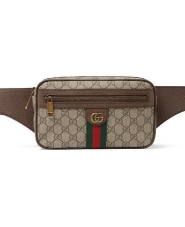 c9b140ce1 Gucci - Leather-Trimmed Monogrammed Coated-Canvas Belt Bag - Men - Beige