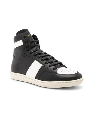 da3c436209a Saint Laurent Signature Court Classic SL/10H Leather High Top Sneakers in  Black. -