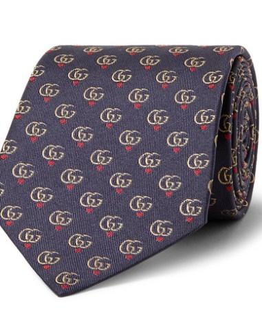 eac138572728 Gucci - 7.5cm Logo-Jacquard Silk-Twill Tie - Men - Navy