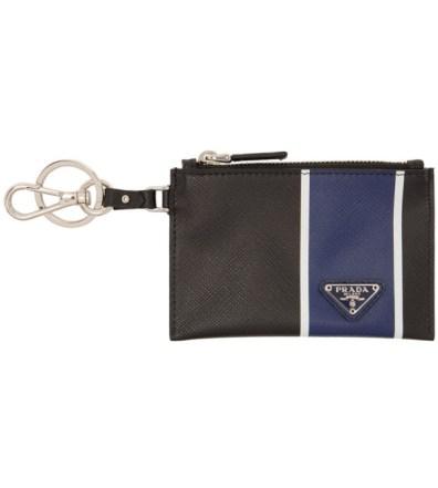 ac331013 Prada Black Travel Pouch Keychain | The Fashionisto