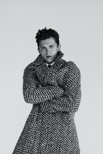 Tom Holland is a stylish vision for GQ Style USA.