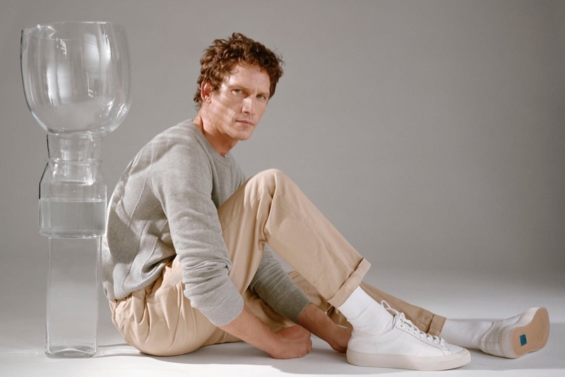 Embracing casual style, Roch Barbot stars in Closed's fall 2020 campaign.
