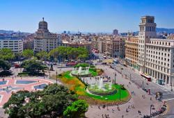barcelona-spain-august-aerial-view-placa-catalunya-august-barcelona-spain-square-considered-to-be-city-center-30305517