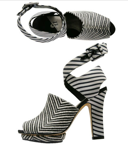 Striped Vamp Sandal Isabel Toledo for Payless