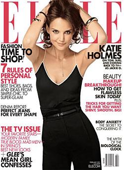 Katie Holmes Elle Cover