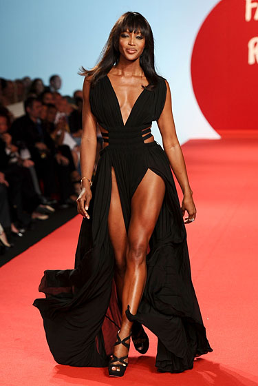 Naomi Campbell Fashion For Relief in Cannes