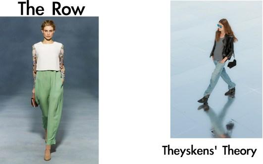 the row, theyskens' theory
