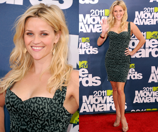 Reese Witherspoon in Zac Posen at Mtv Moive Awards