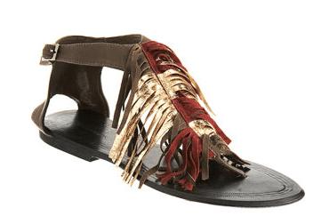 Antik Batik Fringed Thong Sandal