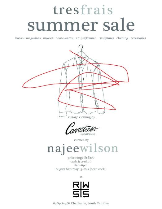 Tres Frais Summer Sale