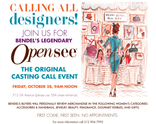 Henri Bendel Open Call
