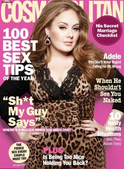 Adele on the cover of Cosmo
