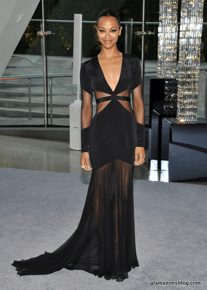 Zoe Saldana in Prabal Gurung at CFDA Awards