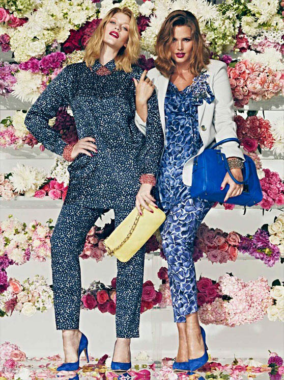 Candice Huffine and Laura Catterall for Marina Rinaldi
