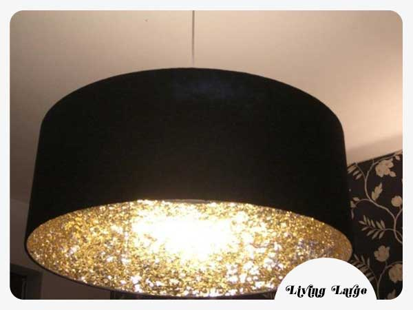 DIY Glitter Lamp Shade