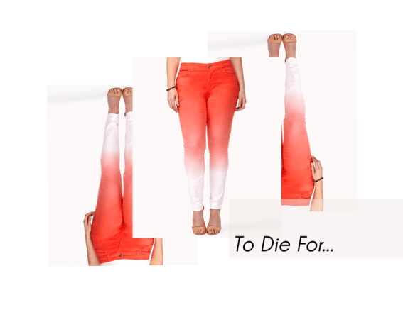 Forever 21 Plus Ombre Skinny Jeans