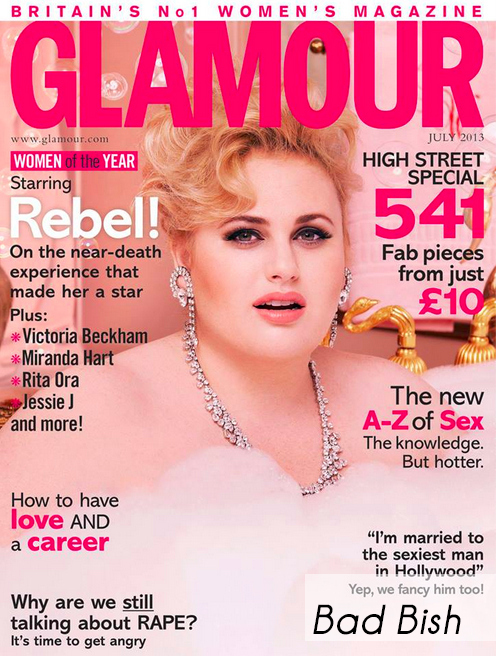 Rebel Wilson on the Cover of Glamour UK