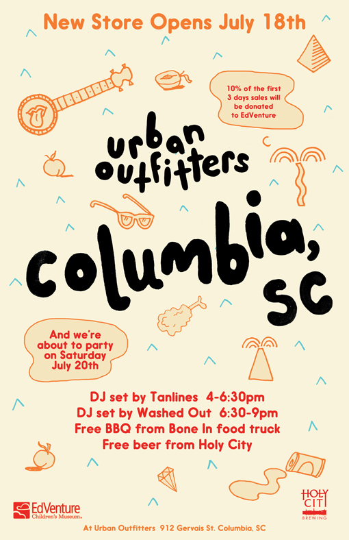Urban Outfitters Opens Up In Columbia SC